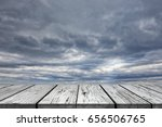 wooden floor with perspective... | Shutterstock . vector #656506765