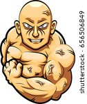 man strong mascot.  | Shutterstock . vector #656506849