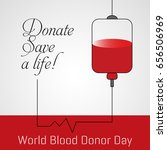 blood donation  world donor day ... | Shutterstock .eps vector #656506969