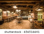 vintage pizzeria interior | Shutterstock . vector #656516641