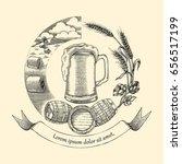 beer craft concept logo  hand... | Shutterstock .eps vector #656517199