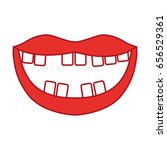mouth with bad teeth | Shutterstock .eps vector #656529361