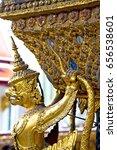 demon in the temple bangkok...   Shutterstock . vector #656538601