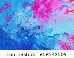 abstract oil paint texture on... | Shutterstock . vector #656543509