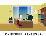 woman working in the office | Shutterstock .eps vector #656549671