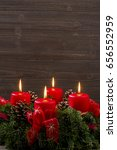 advent wreath for christmas | Shutterstock . vector #656552959