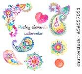 paisley textile design hand... | Shutterstock .eps vector #656557051