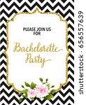 bachelorette party invitation... | Shutterstock .eps vector #656557639