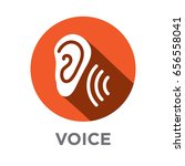 voiceover or voice command icon ... | Shutterstock .eps vector #656558041