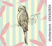 bird hand drawn vintage... | Shutterstock .eps vector #656563834