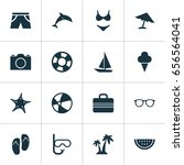 season icons set. collection of ... | Shutterstock .eps vector #656564041