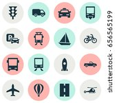 shipment icons set. collection... | Shutterstock .eps vector #656565199