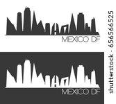 mexico df skyline silhouette... | Shutterstock .eps vector #656566525