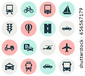 transport icons set. collection ... | Shutterstock .eps vector #656567179