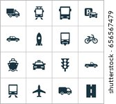 shipment icons set. collection... | Shutterstock .eps vector #656567479