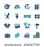 summer vacations icons    azure ... | Shutterstock .eps vector #656567749