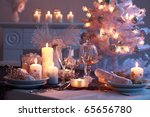 Place Setting For Christmas In...
