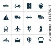 shipment icons set. collection... | Shutterstock .eps vector #656570149