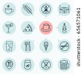 eating icons set. collection of ... | Shutterstock .eps vector #656571061