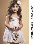 Little Girl With Antique Coppe...