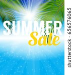 summer sale banner template for ... | Shutterstock .eps vector #656576065