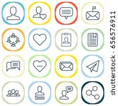 network icons set. collection... | Shutterstock .eps vector #656576911