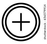 plus vector icon | Shutterstock .eps vector #656579914
