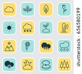 nature icons set. collection of ... | Shutterstock .eps vector #656580199