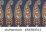 paisley seamless border | Shutterstock . vector #656583511