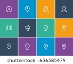 outline locations icon sets ... | Shutterstock .eps vector #656585479
