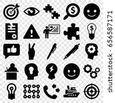 idea icons set. set of 25 idea... | Shutterstock .eps vector #656587171