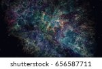 nebulae and galaxies. elements... | Shutterstock . vector #656587711