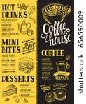 coffee food menu for restaurant ... | Shutterstock .eps vector #656590009
