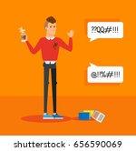 bright flat illustration... | Shutterstock .eps vector #656590069