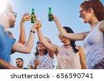big group of people dancing ...   Shutterstock . vector #656590741