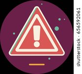 attention sign icon with long... | Shutterstock .eps vector #656592061
