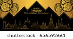 thailand travel concept  lai... | Shutterstock .eps vector #656592661
