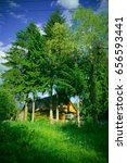 old wooden cottage | Shutterstock . vector #656593441