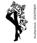 beautiful female legs   high... | Shutterstock .eps vector #656594809