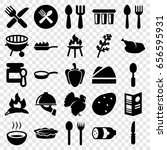cooking icons set. set of 25... | Shutterstock .eps vector #656595931