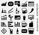 bar icons set. set of 25 bar... | Shutterstock .eps vector #656598199