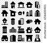 residential icons set. set of... | Shutterstock .eps vector #656600401