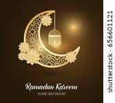ramadan kareem greeting card....   Shutterstock .eps vector #656601121