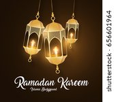 ramadan kareem greeting card.... | Shutterstock .eps vector #656601964