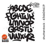 handmade street based font | Shutterstock .eps vector #656604619