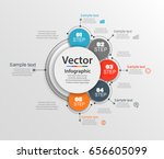 abstract infographics number... | Shutterstock .eps vector #656605099
