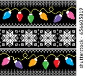 ugly jumper pattern with... | Shutterstock .eps vector #656605819