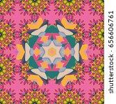 textile print for bed linen ... | Shutterstock . vector #656606761