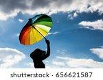model shoot in the beauty of... | Shutterstock . vector #656621587