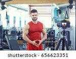 blogger athlete bodybuilder... | Shutterstock . vector #656623351